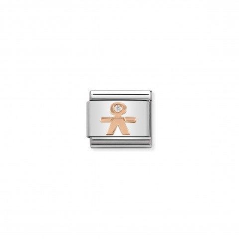 Link_Composable_Classic_Bambino_in_Oro_Rosa_Link_in_Oro_Rosa_e_Pietre_con_simbolo_Bambino