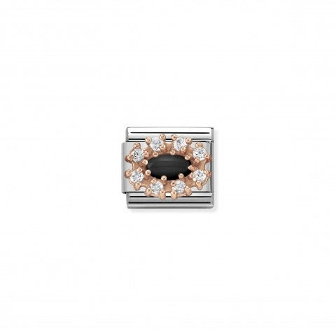 Composable_Classic_Link_Couture_black_Agate_Rose_gold_Link_with_natural_stones_and_Cubic_Zirconia