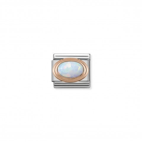 Composable_Classic_Link_October_oval_Birthstone_Stainless_steel_Link_with_9K_rose_gold_natural_stones