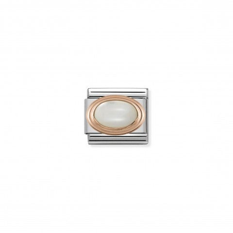 Composable_Classic_Link_9k_gold_oval_mother_of_pearl_Link_in_stainless_steel_with_9K_rose_gold_natural_stones