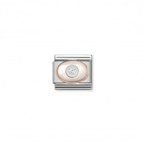 Composable_Classic_Link_9K_Gold_pink_Mother_of_Pearl_9K_rose_gold_Link_with_oval_stone_and_Cubic_Zirconia