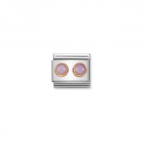 Composable_Classic_Link_symbol_with_Pink_Opaline_Link_with_2_stones_and_details_in_9K_rose_gold