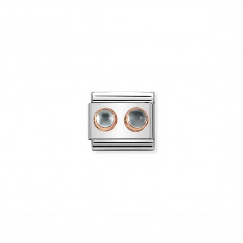 Composable_Classic_Link_with_Light_Blue_Topaz_Link_in_9K_rose_gold_with_2_light_blue_Topaz