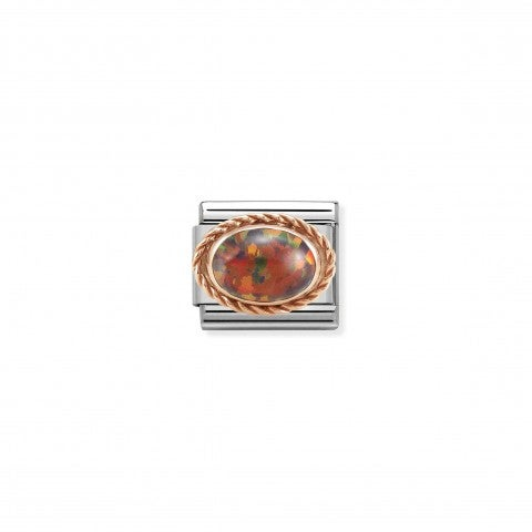 Composable_Classic_Link_in_Rosegold_and_Red_Opal_Link_in_stainless_steel_with_stone