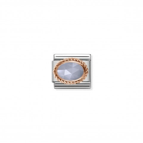 Composable_Classic_Link_with_Blue_Agate_Stone_Link_in_stainless_steel_and_rose_gold_with_banded_Agate