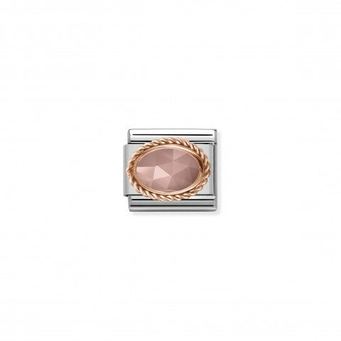 Composable_Classic_Link_with_Chalcedony_Stone_Link_with_apricot-coloured_Chalcedony_stone