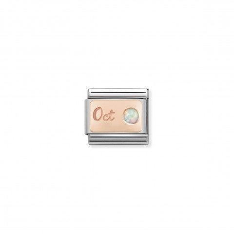 Link_Composable_Classic_en_Or_rose_Octobre_Link_en_Or_Rose_375_et_Opale_blanche