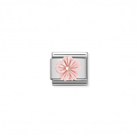 Composable_Classic_Link_Flower_in_Pink_coral_paste_Link_with_flower_in_9k_rose_gold