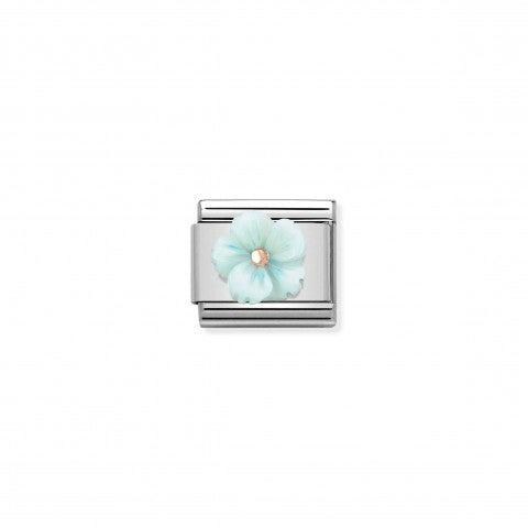 Link_Composable_Classic_Fleur_Nacre_Turquoise_Link_avec_détails_en_Or_rose_375