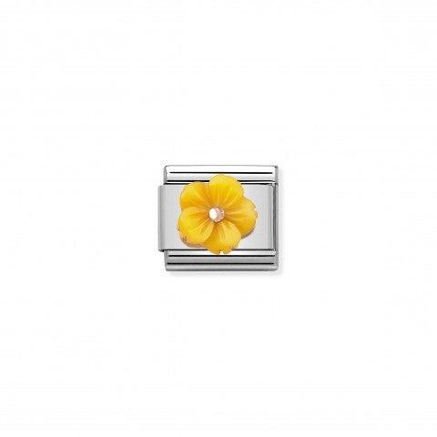 Link_Composable_Classic_Fleur_Nacre_Jaune_Link_avec_détails_en_Or_rose_375