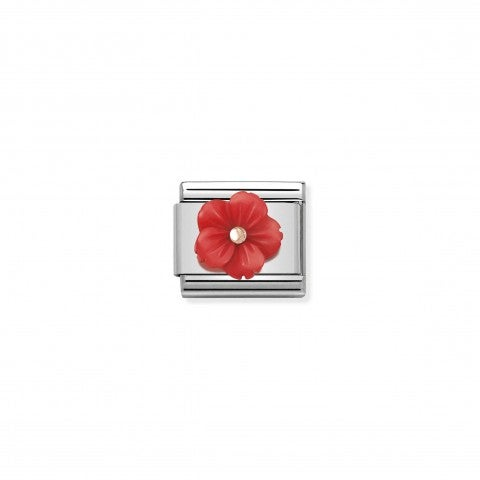 Link_Composable_Classic_Fleur_Nacre_Rouge_Link_avec_détails_en_Or_rose_375