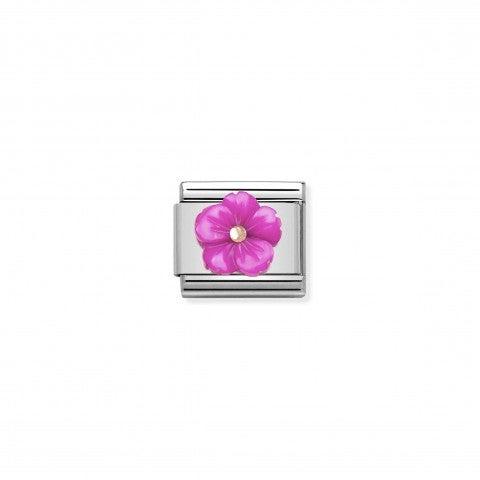 Link_Composable_Classic_Fleur_Nacre_Fuchsia_Link_avec_détails_en_Or_rose_375