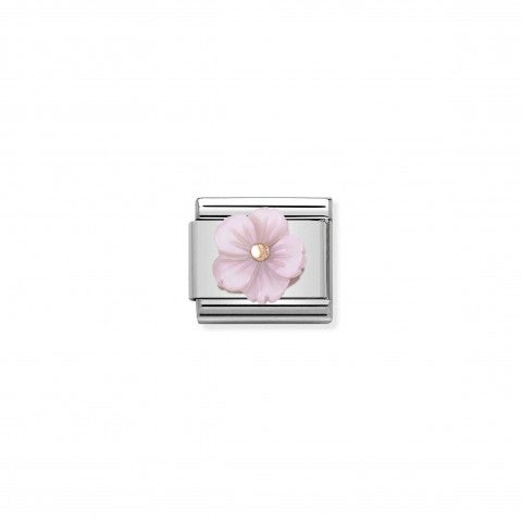 Composable_Classic_Mother_of_Pearl_Lilac_Flower_Link_Link_with_details_in_9K_rose_gold