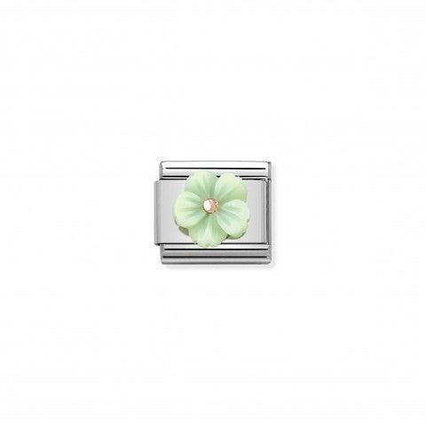 Link_Composable_Classic_Fleur_Nacre_Verte_Link_avec_détails_en_Or_rose_375