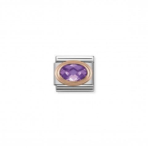 Link_Composable_Classic_Pietra_viola_sfaccettata_in_Oro_rosa_Link_con_Cubic_Zirconia_viola_in_Acciaio_e_Oro_rosa_375