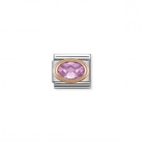 Link_Composable_Classic_Pietra_rosa_sfaccettata_in_Oro_rosa_Link_con_Cubic_Zirconia_rosa_in_Acciaio_e_Oro_rosa_375