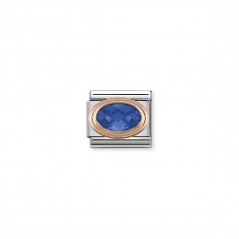 Link_Composable_Classic_Pietra_blu_sfaccettata_in_Oro_rosa_Link_con_Cubic_Zirconia_blu_in_Acciaio_e_Oro_rosa_375