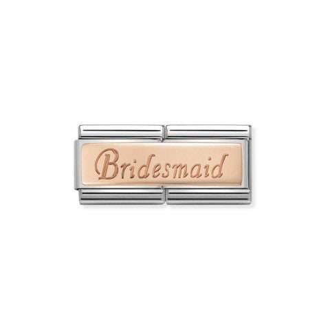 Composable_Classic_Bridesmaid_Double_Link_Link_with_writing_engraved_in_9K_rose_gold