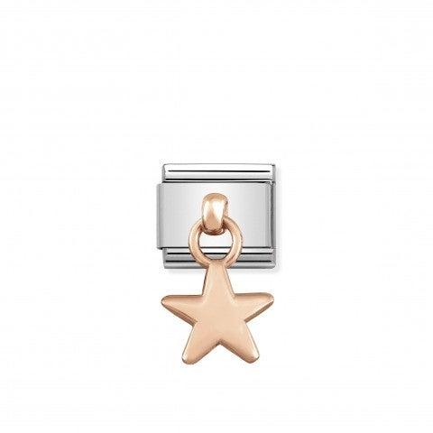 Link_Composable_Classic_Pendente_Stella_in_Oro_rosa_Link_con_simbolo_stella_in_Acciaio_e_Oro_rosa_375