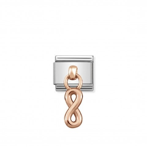 Composable_Classic_Link_Rose_Gold_Infinity_Stainless_steel_Link_with_pendants_in_9K_rose_gold