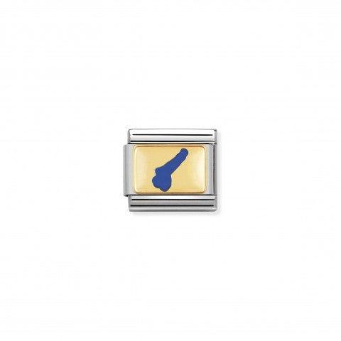 Link_Composable_Classic_Simbolo_Lago_di_Garda_Link_con_lago_italiano_in_Acciaio_e_Oro750