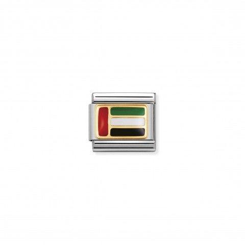 Link_Composable_Classic_Bandiera_Emirati_Arabi_Link_con_bandiera_in_Acciaio_e_Smalto