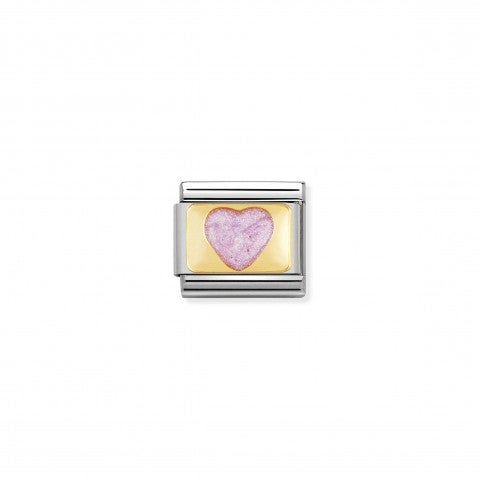 Composable_Classic_Link_pink_Glitter_Heart_Link_in_gold_and_enamel_coloured_Hearts