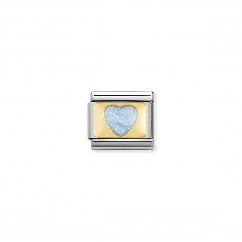 Link_Composable_Classic_Cuore_con_glitter_celeste_Link_con_cuore_in_Acciaio_e_Smalto_celeste