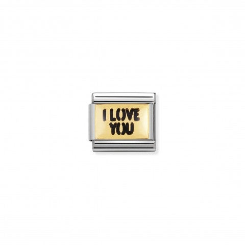 Composable_Classic_Link_I_LOVE_YOU_writing_18K_gold_and_enamel_Link_with_Love_messages