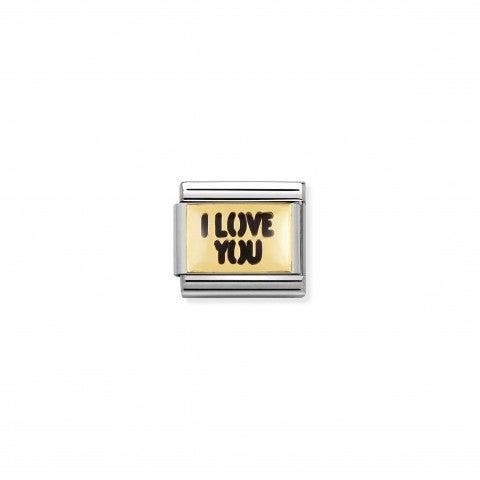 Классическое_звено_I_LOVE_YOU__Звено_в_18-каратном_золоте_и_эмали_с_Любовным_посланием
