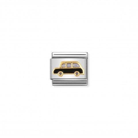 Link_Composable_Classic_Taxi_inglese_Link_con_simbolo_inglese_in_Acciaio_e_Oro750
