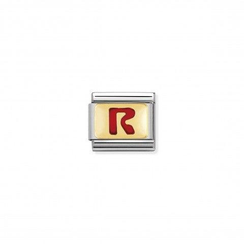Link_Composable_Classic_Lettera_R_Rosso_Link_con_iniziale_in_oro_750_con_smalto