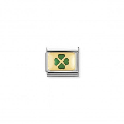Composable_Classic_Link_green_Four-Leaf_Clover_Link_in_18K_gold_and_enamel_Good_Luck