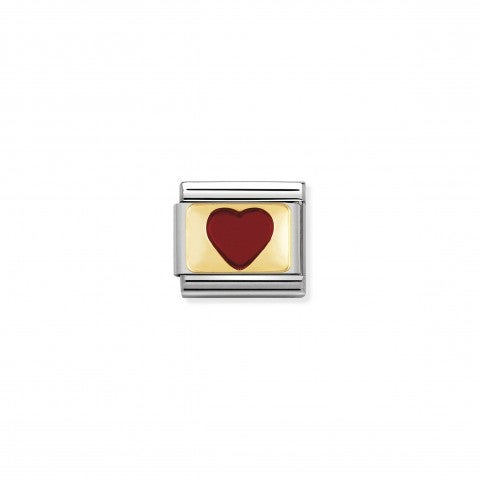 Composable_Classic_Link_red_Heart_with_Gold_Stainless_steel_and_enamel_Link_with_coloured_Hearts