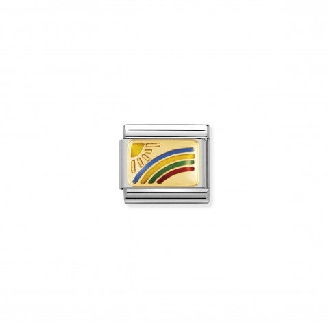 Composable_Classic_Link_Rainbow_in_18K_Gold_Stainless_steel_Link_with_Rainbow_symbol_in_enamel