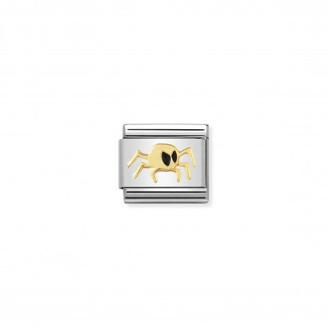 Composable_Classic_Link_Spider_Gold_Stainless_steel_and_enamel_Link_with_Halloween_symbols