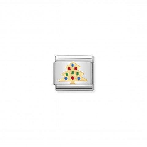 Link_Composable_Classic_Albero_di_Natale_colorato_Link_con_albero_di_natale_in_Oro750_e_Smalto_colorato