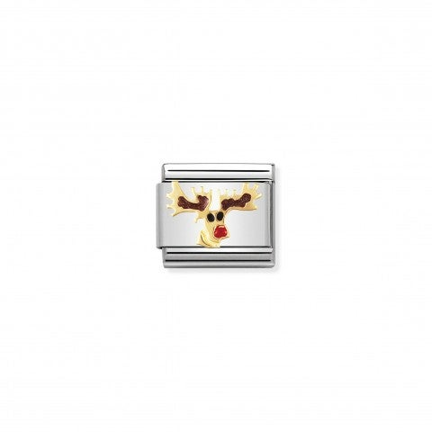 Composable_Classic_Link_Rudolph_Reindeer_White_Christmas_Link_with_gold_and_enamel