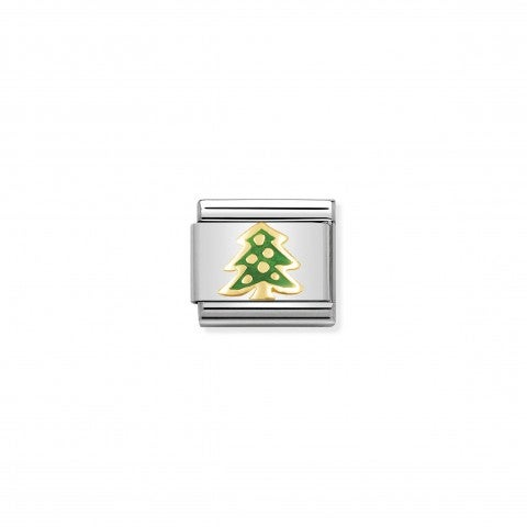Composable_Classic_Link_green_Christmas_Tree_Link_in_18K_gold_and_coloured_enamel_Christmas_symbols