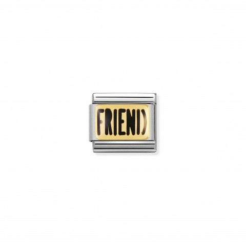 Composable_Classic_Link_FRIEND_writing_Link_in_18K_gold_and_enamel_Friendship_Messages
