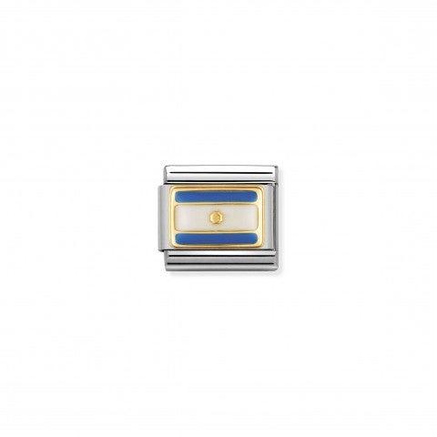 Link_Composable_Classic_Bandiera_Argentina_Link_in_Acciaio_con_una_bandiera_sudamericana