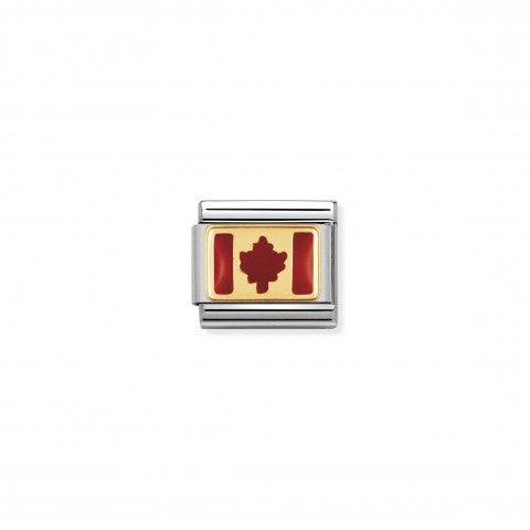 Composable_Classic_Link_Canada_Flag_in_Enamel_Stainless_steel_and_enamel_Link_with_Canadian_Flag