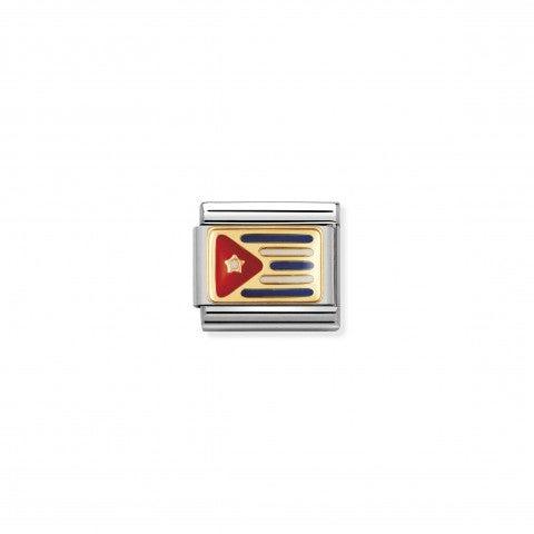Link_Composable_Classic_Bandiera_Cuba_Link_in_Acciaio_e_Smalto_con_la_bandiera_cubana