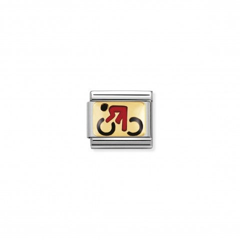 Composable_Classic_Link_with_Enamel_Cycling_Link_in_18K_gold_and_enamel_My_Sport_symbols