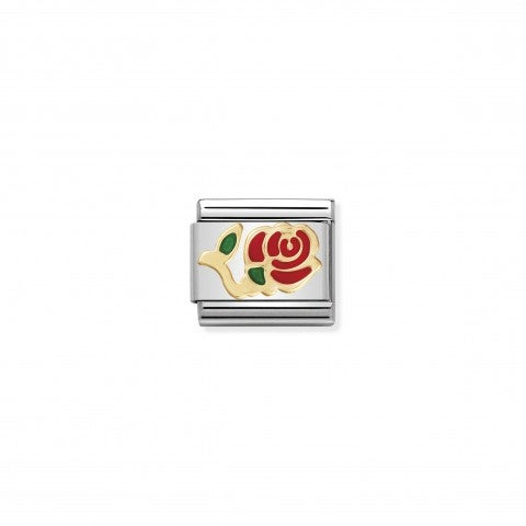 Link_Composable_Classic_Rosa_rossa_in_Oro750_Link_con_il_simbolo_della_rosa_in_fiore_in_Smalto