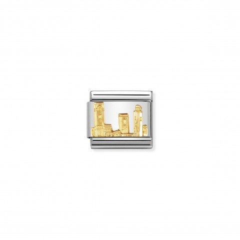 Composable_Classic_Link_San_Gimignano_Link_in_18K_gold_with_city_in_Tuscany