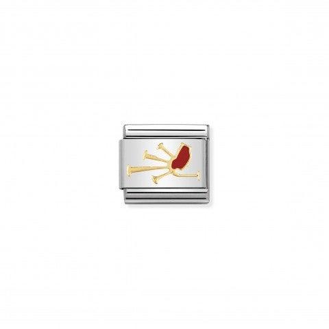Link_Composable_Classic_Cornamusa_Link_con_simbolo_della_Scozia_in_Acciaio_e_Smalto_rosso