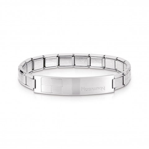 Trendsetter_Stainless_Steel_shiny_Chessboard_Bracelet_Stainless_Steel_Bracelet_for_him_with_plaque