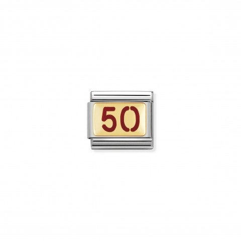 Composable_Classic_Link_Number_50_in_red_Enamel_Stainless_steel_Link_Birthday_and_Anniversary_Numbers