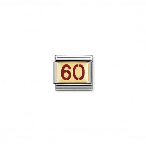 Composable_Classic_Link_Number_60_in_Gold_and_Red_Enamel_Stainless_steel_Link_with_enamel_and_18K_gold_Numbers